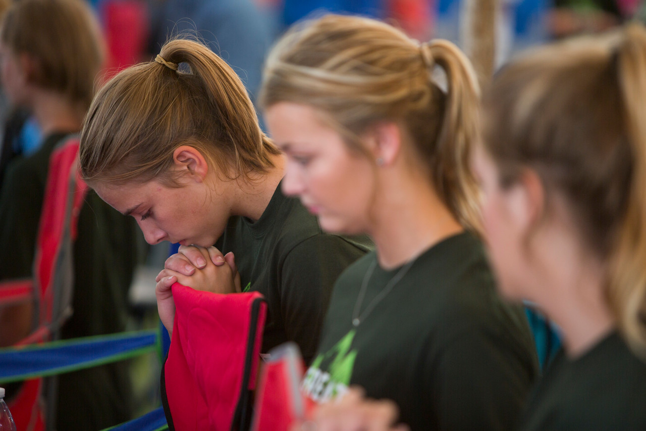 left to right: Kailea Smith, Ally Bottom, Kristin Becker too of St. Leo's in Horton.