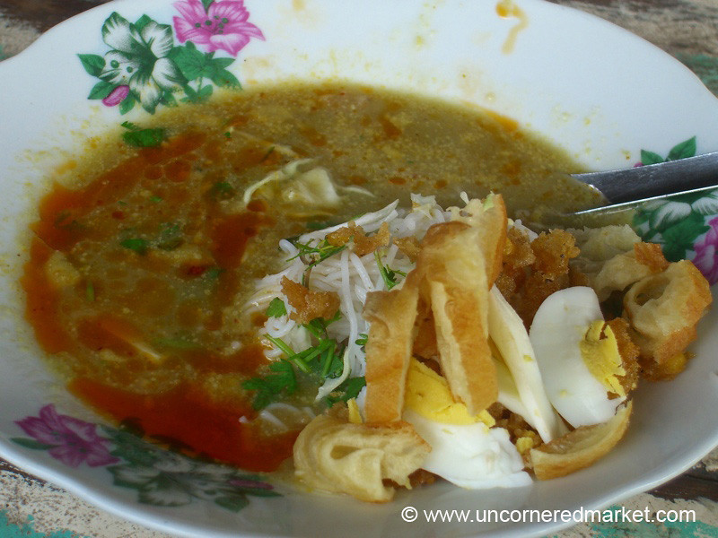 Burmese Food, Morning Soup - Meiktila, Burma