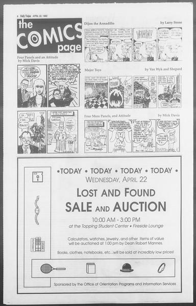 Daily Trojan, Vol. 117, No. 62, April 22, 1992