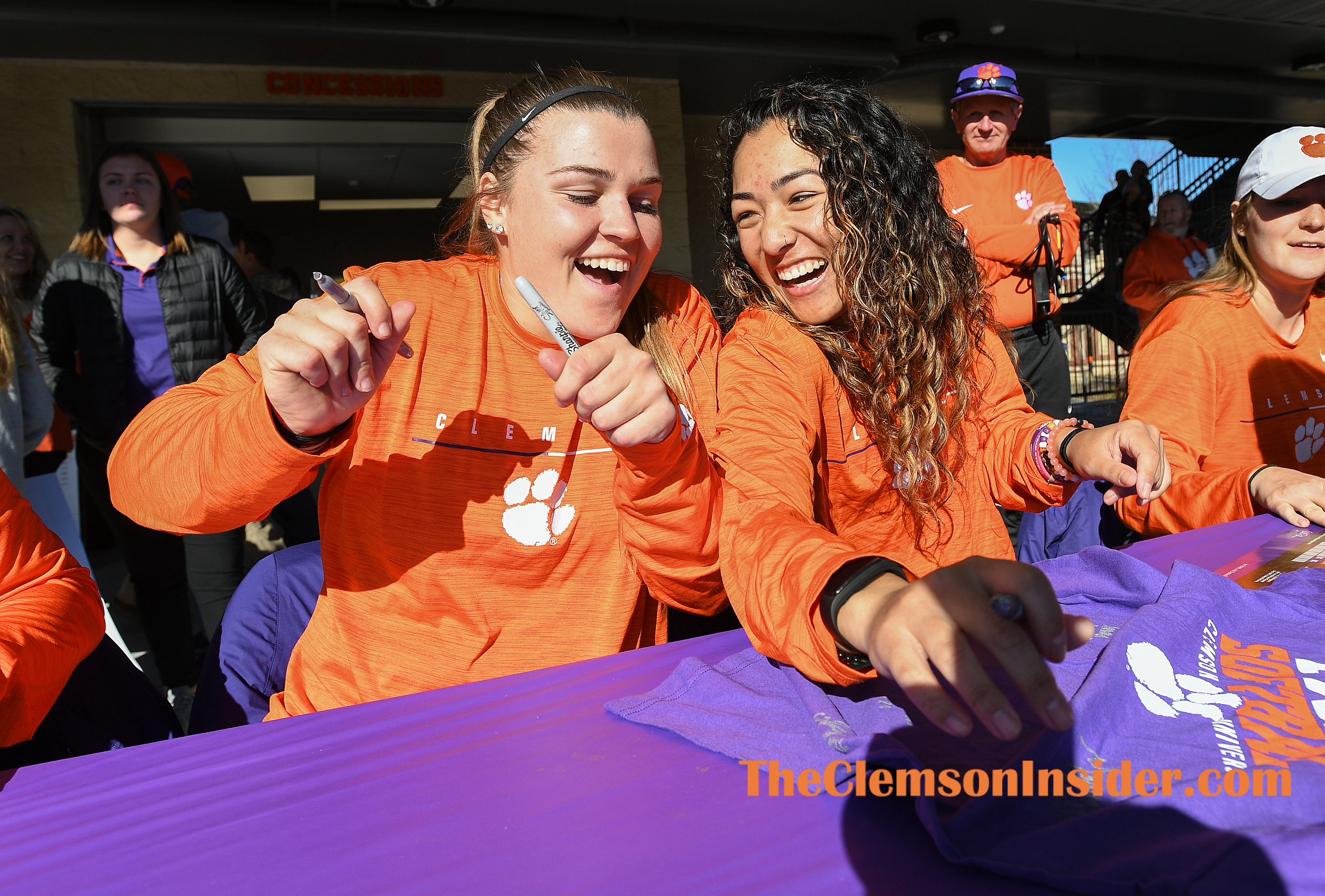 Clemson softball held their fan day at the stadium Saturday, January 25, 2020. Bart Boatwright/The Clemson Insider