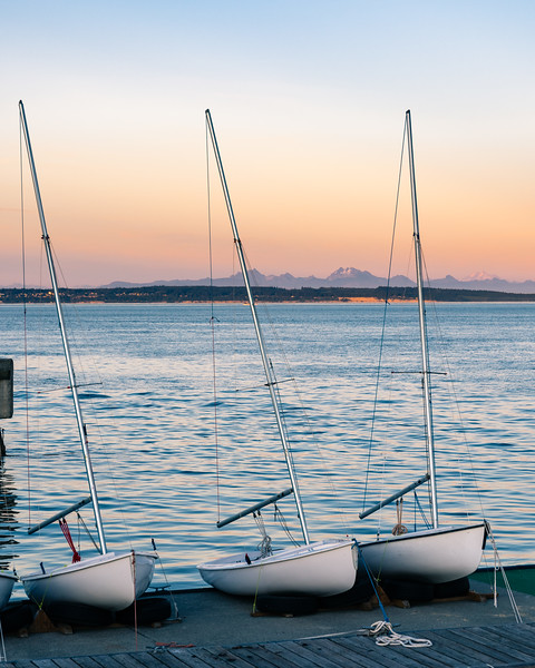 Another pastel sunset at Port Townsend, Wa.