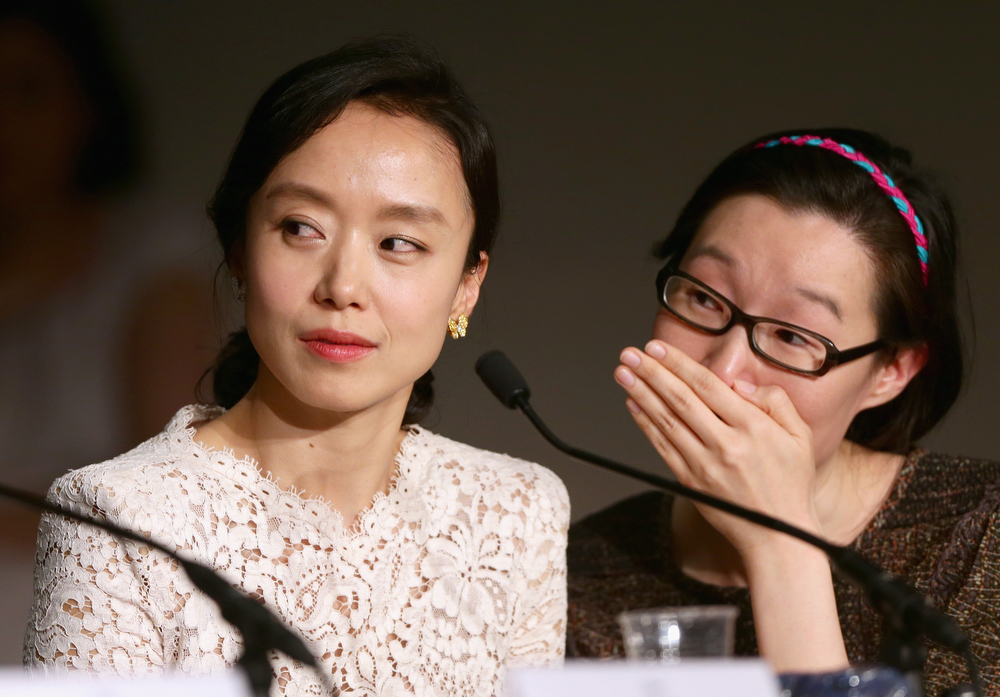 . Jury member Do-yeon Jeon and guest attend the Jury press conference during the 67th Annual Cannes Film Festival on May 14, 2014 in Cannes, France.  (Photo by Vittorio Zunino Celotto/Getty Images)