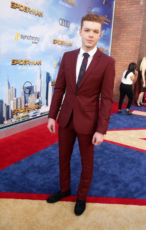 """. Cameron Monaghan seen at Columbia Pictures World Premiere of \""""Spider-Man: Homecoming\"""" at TCL Chinese Theatre on Wednesday, June 28, 2017, in Hollywood, CA. (Photo by Steve Cohn/Invision for Sony Pictures/AP Images)"""
