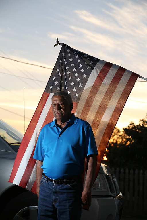 . U.S. Army Staff Sergeant Melvin Morris, a Vietnam War veteran, is seen at his house on March 04, 2014 in Cocoa, Florida.  (Photo by Joe Raedle/Getty Images)