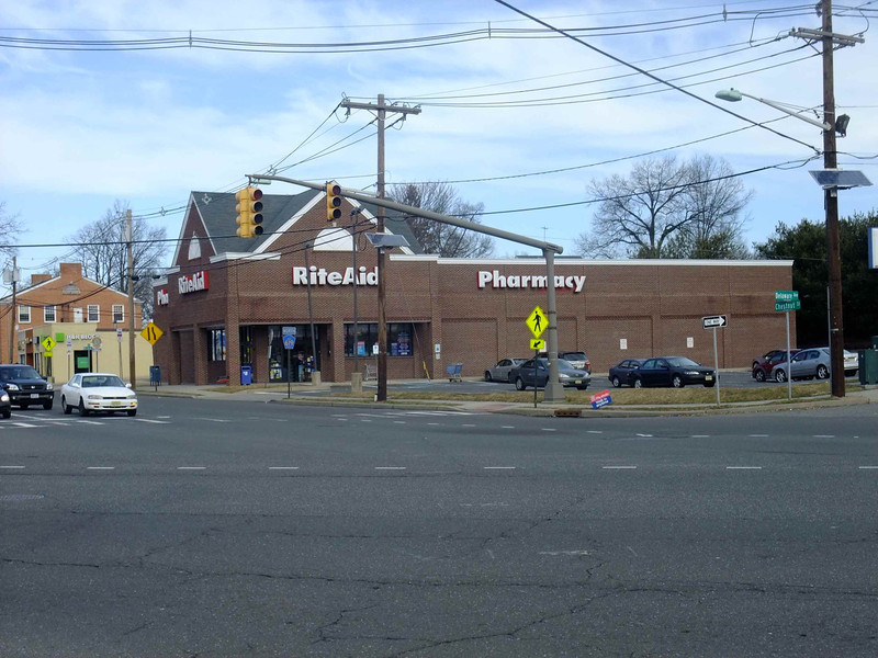Current photo of Rite Aid. This site previously hosted The Jerry Lewis Cinema and before that, Five Points Restaurant.