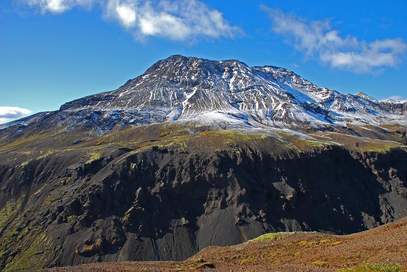 Rauðafell, séð yfir Brúarárskörð