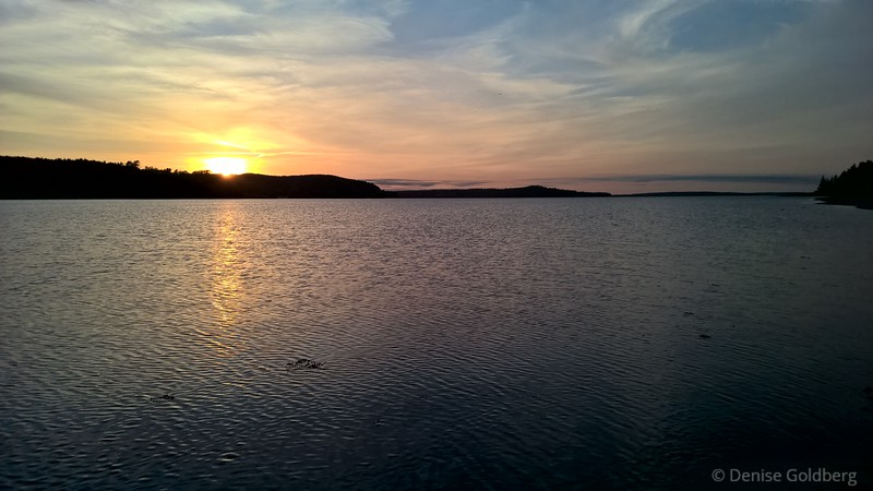 sunset, Bar Harbor