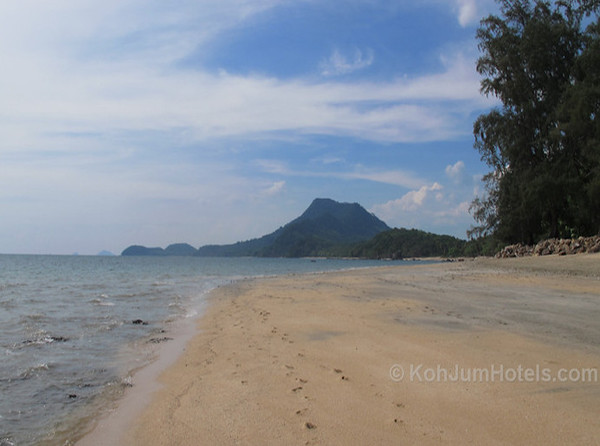 Golden Pearl Beach with Koh Pu In the background Koh Jum