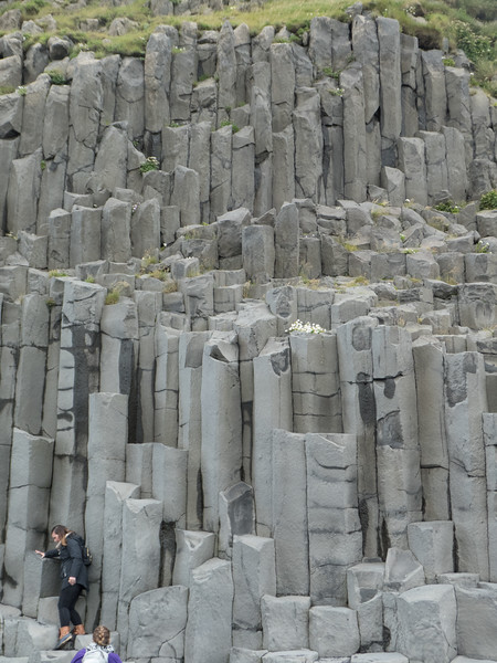 Basalt columns at Reynisfjara Black Sand Beach. South Coast near Vik, Iceland