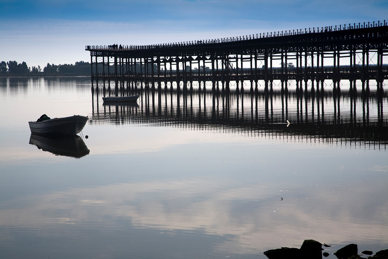 """Loading pier built by the Riotinto Mining Company in the 19th century, known as """"Muelle de los ingleses"""" (Englishmen's pier), town of Huelva, Andalusia, southwestern Spain"""