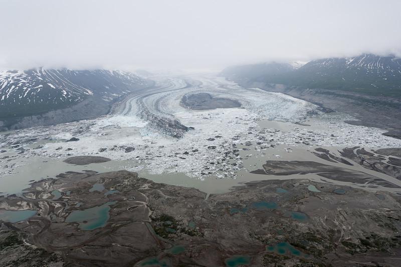 Surging Lowell Glacier, Kluane National Park, Yukon, Canada