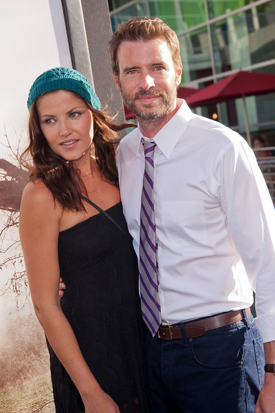 HOLLYWOOD, CA - JULY 15: Actress Actor Scott Foley (R) and Marika Dominczyk arrive at the Los Angeles Premiere 'The Conjuring' at ArcLight Cinemas Cinerama Dome on Monday, July 15, 2013 in Hollywood, California. (Photo by Tom Sorensen/Moovieboy Pictures)