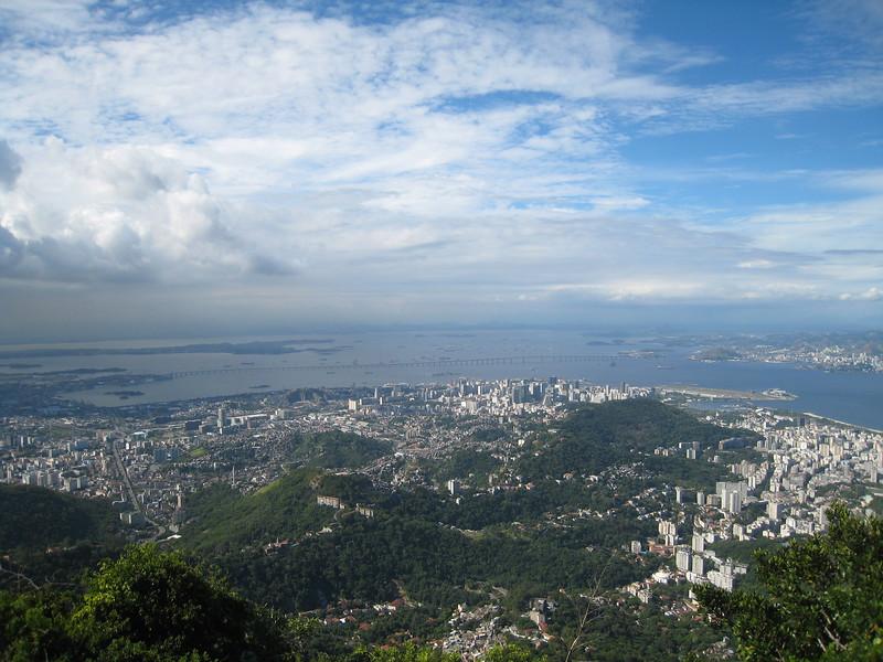 View from the top, Corcovado, Rio de Janeiro, Brazil