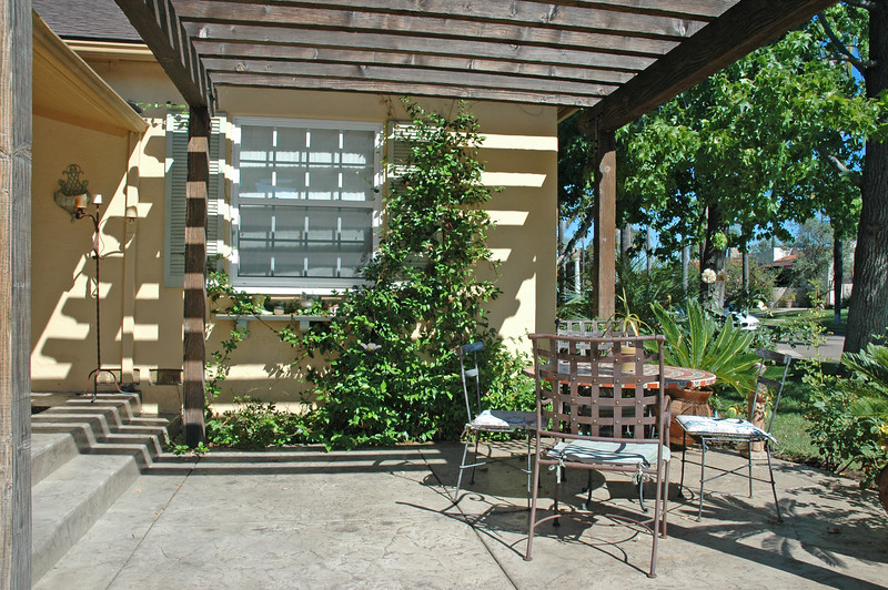 The front patio offers a covered shade patio.