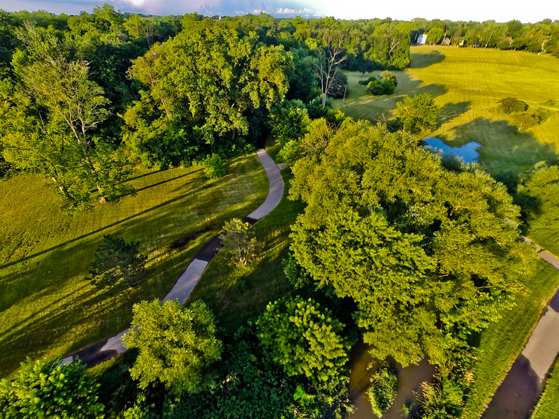 Summer Sunset at the Park 15 : Aerial Photography from Project Aerospace