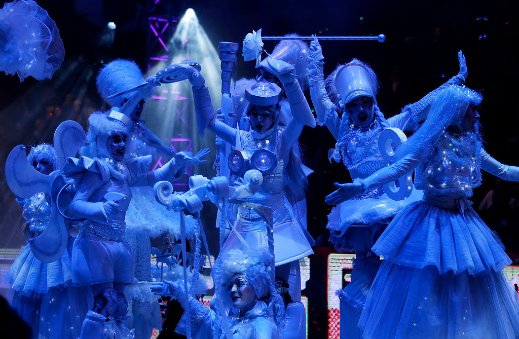 . Performers take part in a night parade to celebrate Chinese New Year in Hong Kong, Friday, Jan. 31, 2014. The Lunar New Year this year marks the Year of the Horse in the Chinese calendar. (AP Photo/Vincent Yu)