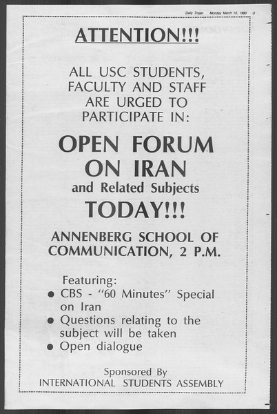 Daily Trojan, Vol. 88, No. 24, March 10, 1980