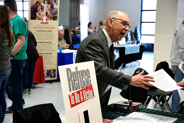 3/7/2020 Mike Orazzi | Staff Michael Ptaszynski during The Central Connecticut Chambers of Commerce's Family Health and Wellness Expo held at Bristol Eastern High School on Saturday.
