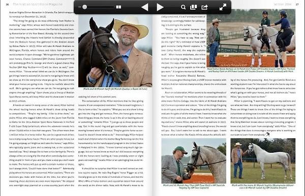 Arabian Sport Horse Magazine 2014