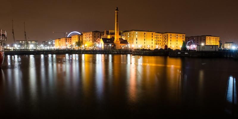 Liverpool Docks and warehouses