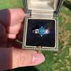1.73ctw Blue Marquise Cut Diamond Trilogy Ring 21