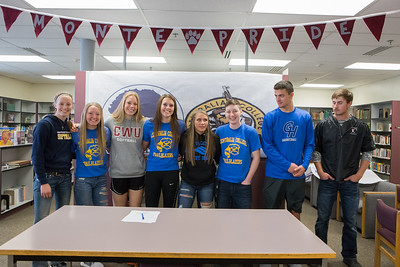 2018 Montesano High School letter of intent signing