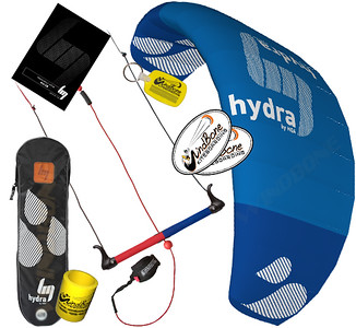 HQ HQ4 Hydra Water Relaunchable Trainer Kite Kitesurfing Kiteboarding