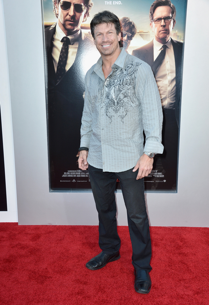 """. Actor Paul Logan attends the premiere of Warner Bros. Pictures\' \""""Hangover Part 3\"""" at Westwood Village Theater on May 20, 2013 in Westwood, California.  (Photo by Frazer Harrison/Getty Images)"""
