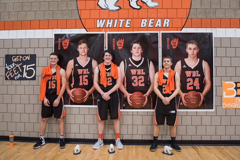 Varsity Boys Basketball Senior Night 2018 -V- Forest Lake