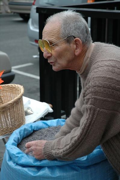 Lavender Vendor at Market - Pau, France