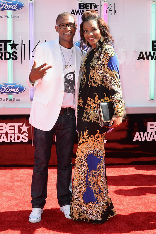 . Actor Tommy Davidson (L) and Jillian Davidson attend the BET AWARDS \'14 at Nokia Theatre L.A. LIVE on June 29, 2014 in Los Angeles, California.  (Photo by Earl Gibson III/Getty Images for BET)