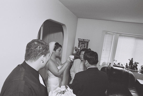 Rosa and Clay Wedding (Brian Noppe B&W)