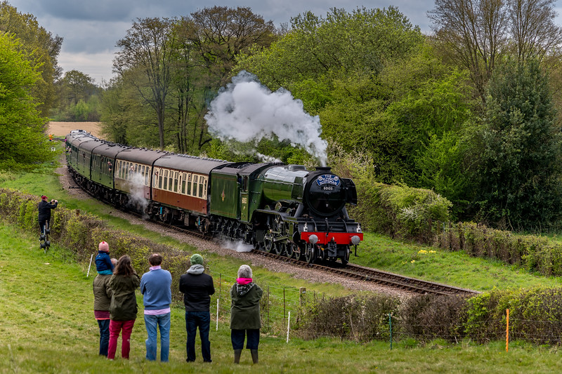 Spectators admire the Flying Scotsman