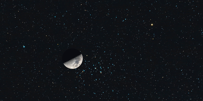 Moon & M48 Conjunction Recreation - May 10, 2019