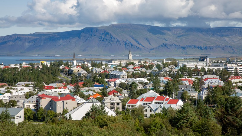 Colored Houses, view from Perlan