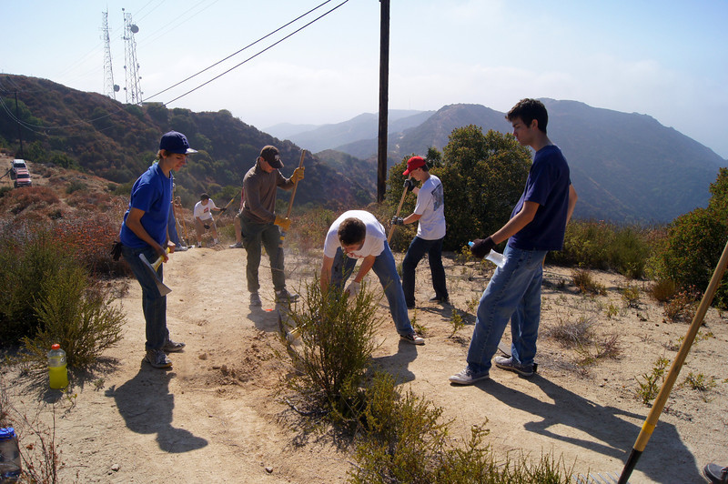 20110911036-Eagle Scout Project, Steven Ayoob, Verdugo Peak.JPG