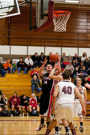 Montesano HS vs. Tenino HS, mens varsity, January 13, 2011