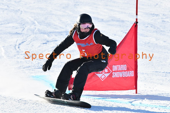 OFSAA Snowboarding 2019 Girls First Run