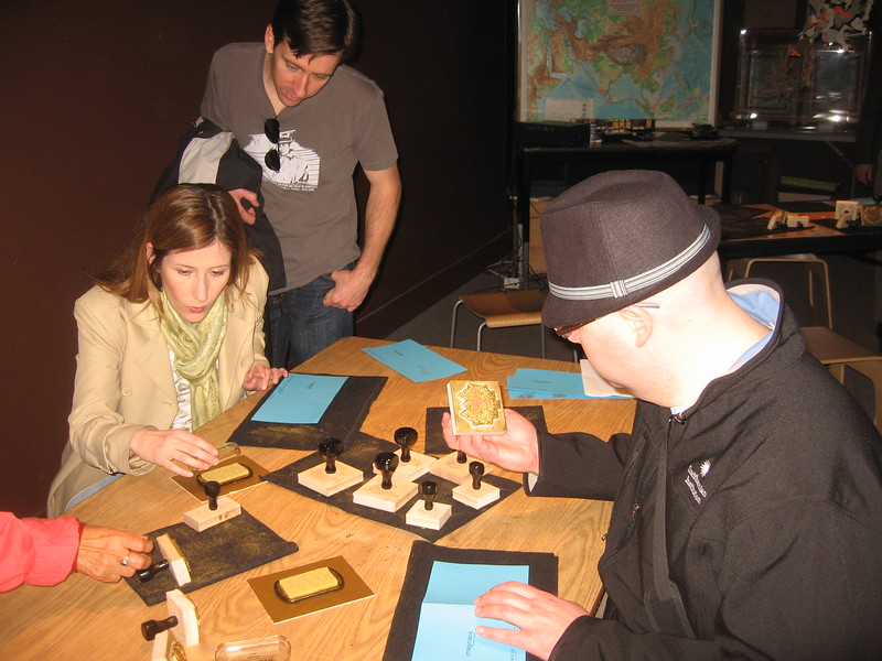 Christina and DJ make greeting cards to celebrate Nowrūz, at the Smithsonian's Arthur M. Sackler Gallery (3/13/11)