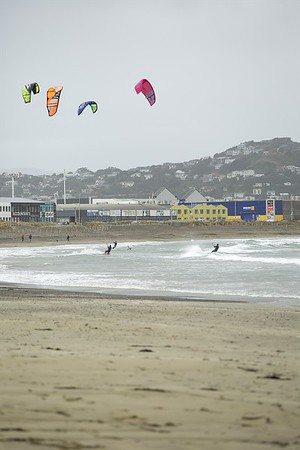 20160325 Kite Boarders at Lyall Bay, Wellington _MG_2307