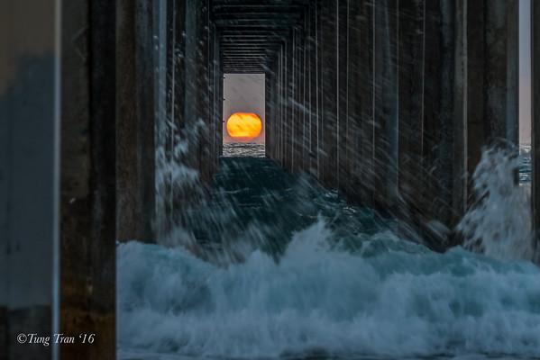 Sunset Scripps  Pier May 2016