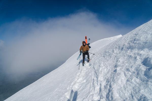 Skiing Mt McLoughlin
