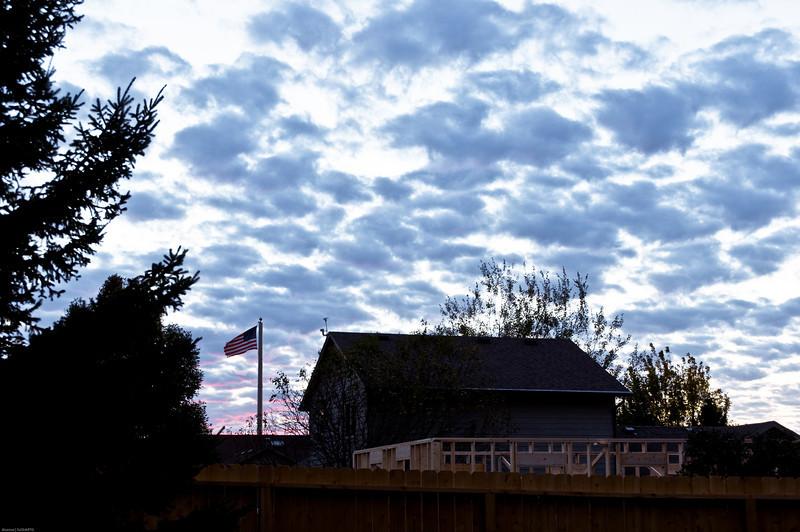 Spotty Clouds on Sunset