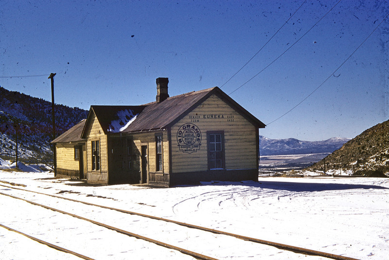 D&RGW at Eureka, Utah. (Vic Oberhansley Photo)