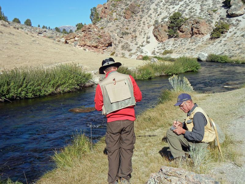 Rocko and John down at Hot Creek