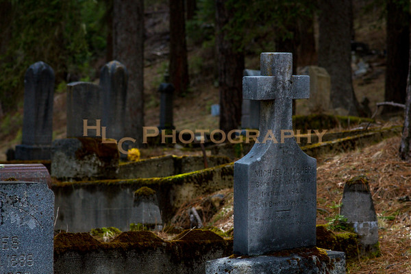 041419 Miner's Cemetery at Nine Mile Cemetery in Wallace, Idaho