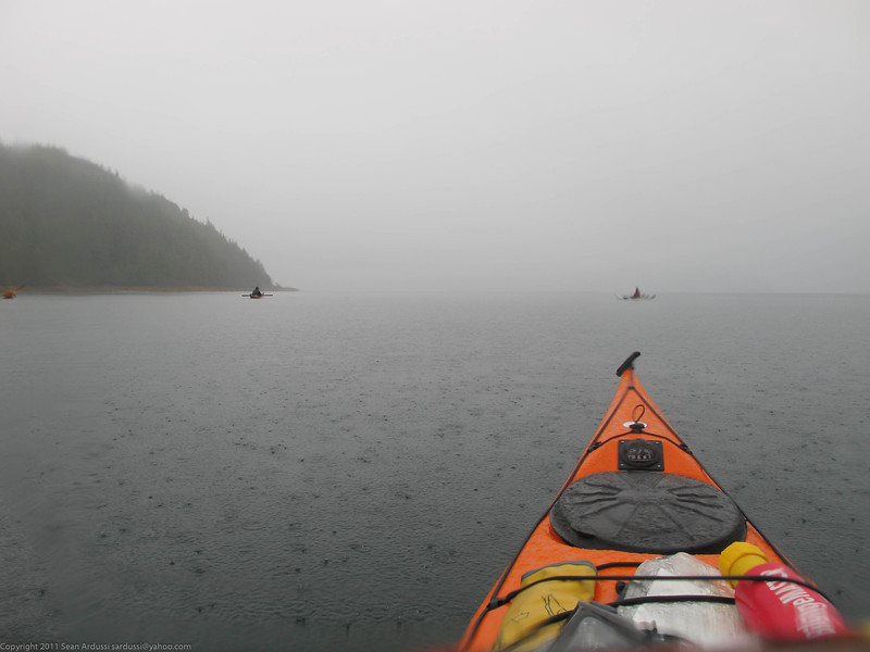 A very rainy last day of paddling.