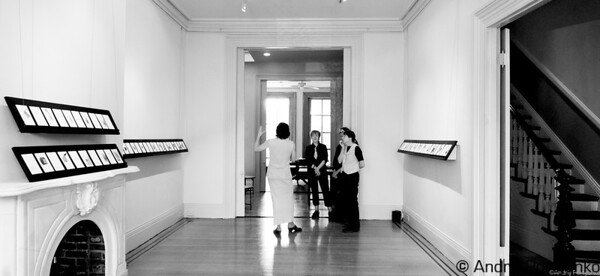At the Die Botschaft Gallery, Marcia Hart, Katherine Kavanaugh, Jennifer Wallace