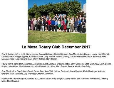 La Mesa Rotary Club group picture
