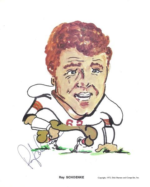 1972 Compu-Set Redskins Ray Schoenke